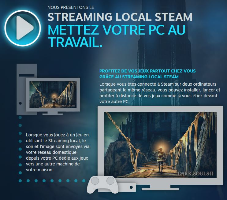 Le Stream de Steam en local